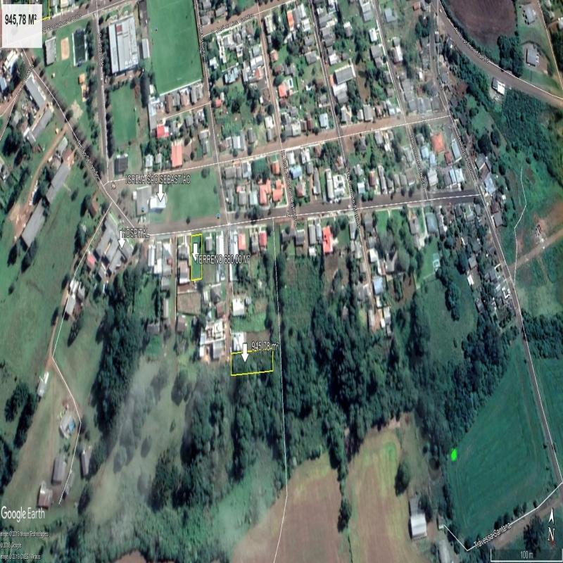 TERRENO COM 945,78 M² - BAIRRO SÃO SEBASTIÃO
